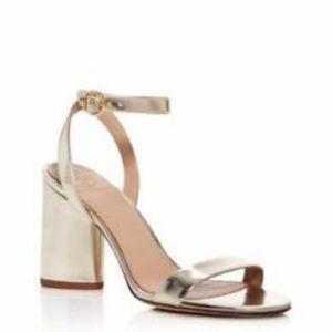Tory Burch Elizabeth Metallic Block Heel Sandals